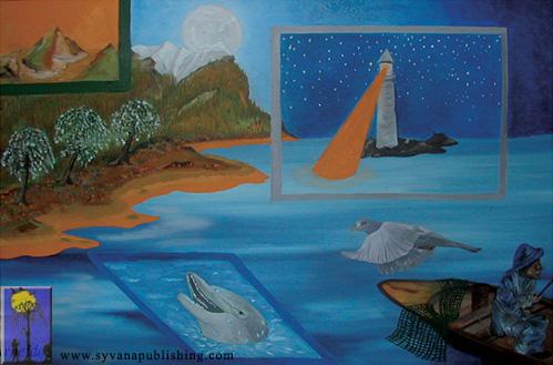 The Golden Shore - oil painting by Arneldo