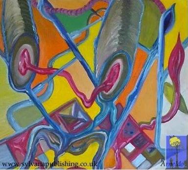 Aliens painting by Arneldo