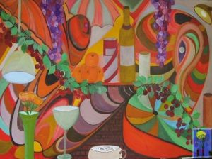 Cafe Calpyso painting by Arneldo