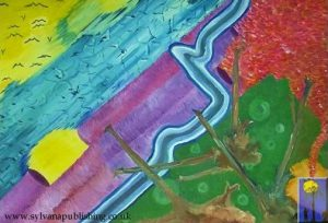Tracks painting by Arneldo